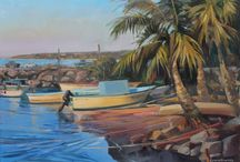 Mexico Surf Art, etc / Paintings inspired by a recent surf trip to Nayarit, MX