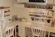 Hobbyrom / Inspirasjon til hobbyrom og oppbevaring/organisering av hobbysaker.