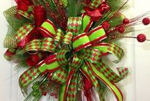 Christmas mesh wreaths