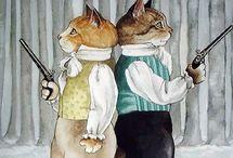Cat arts / artist Susan Herbert, Alfred Mainzer...