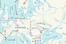 ヨーロッパ地図:Europe map