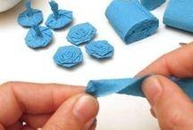 krepák, papírové kytky