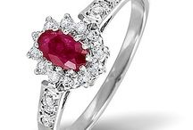 Ruby Engagement Rings / Called the King of all Gems, rubies symbolise love and seduce the eye with their fiery red brilliance. Be passionate, bold and elegant with a ravishing red ruby ring from our breathtaking collection…