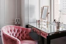 Beauty corner / interior, design, interior inspiration, home, living, beauty corner, makeup desk,