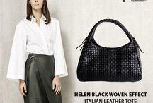 Helen Black Woven Look Bag