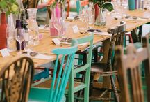 Colourful mismatched chairs for Weddings