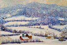 Christine Mchugh  Collection / Oil on canvas from artist Christine McHugh a self taught visionary artist who resides in Bucks County, Pa painting local scenes in Bucks County and more!