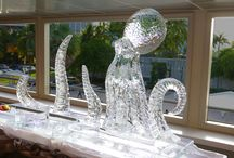 Ice Baazar / @SoCoolEvents has everything you can possibly need in ICE: Large Sculptures, Small Sculptures, Centerpieces, Bars, Custom Orders. The cold never bothered us anyway...