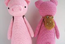 Amigurumi doll for baby