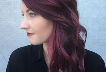 Violet kleurtinten / Allemaal verschillende violet haarkleuringen
