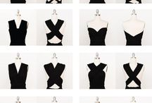 diferentes escotes y faldas