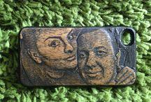 Чехлы для телефонов ручной работы от Дар Рук / Портфолио работ Клуба мастеров Дар Рук. Какие мы вырезаем чехлы для телефонов из натурального дерева