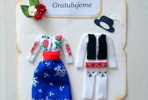 dresses on cards / my work, passion, hobby