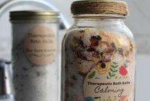 DIY bath salts therapeutic