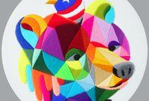 Okuda San Miguel / Artworks by Spanish Artist Okuda San Miguel available at 19 Karen