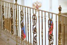 Grande forge, серия Роял, латунное ограждение / Элитные ограждения лестниц серии ROYAL от Grande forge задают тон роскоши и богатства убранства.