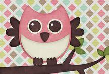 Ugglor / Free owls printable.
