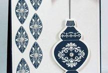 Cartes Stampin up -Ornament Keepsakes / cartes réalisées avec le set de tampons Ornament Keepsakes de Stampin Up