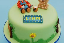 Bob the builder cakes / by Fancy Fondant Cakes by Emily Lindley