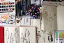 Fashion illustration / drawings, sketches, moodboards, prints