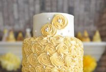 zlto-biele torty
