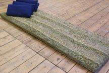 Rush Cushions / Floor cushions and mattresses handwoven and hand-sewn from English Bulrush. Indoor and outdoor use.