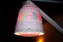 Flower pot lamp