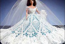 Pineapple Bridal crochet gown