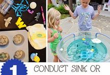Water Table Fun / Fun activities you can do with your water table.