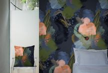 "FEATHR.COM - Modern Floral Wallpapers / A classic style, reimagined for the modern home.  Discover Feathr.com's beautiful range of Modern Floral designer wallpapers. Elle Décor calls it their ""new favorite wallpaper""."