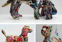 Animal from waste material