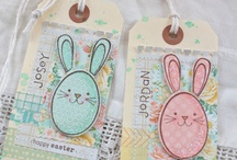 ..easter card and tag..