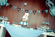Chá de Bebê Menino / Idéias de decoração para chás de bebês ou chás de fraldas para meninos!