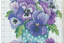 Cross stitch violet