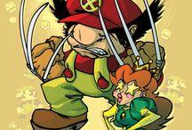Video Games comics Mash Up