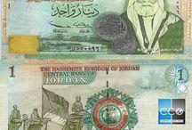 Billets Jordanie / Le Dinar jordanien a été introduit en 1950, en remplacement de la Livre palestinienne. Les billets de banque Jordanie en circulation sont : 1, 5, 10, 20, 50 JOD.