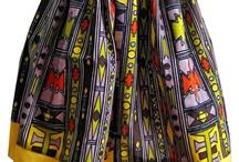 tribal African Barak print skirt