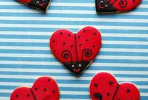ladybird sugar cookies