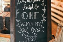 wedding chalkboards / by Katy Maki