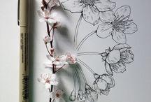 Kukkapiirroksia