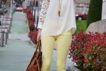 Moda Calça colorida