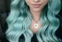 mint green pastell Hair