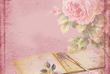 achtergronden 1 met bloemen en vlinders