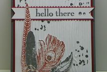 Stampin up Fine Feathers / Board for ideas using the stampset Fine Feathers  from Stampin up