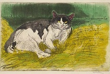 Cats in Art - Steinlen at The Great Cat / www.thegreatcat.org