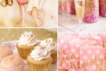 Wedding theme pink and gold