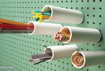 Pegboard silinder storage