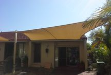 Patio Style Shade Sail Ideas / Custom made shade sails for outdoor living areas.