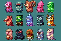 Pixel Art Characters and monsters