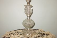 Vintage Lamps/Glass/Brass